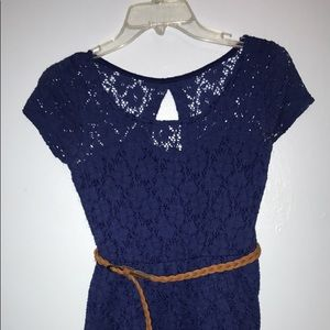 Wet Seal Navy Lace Dress